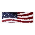 Paper Mache American Flag Business Card
