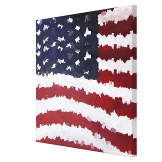 Paper Mache American Flag Canvas Prints