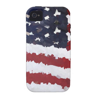 Paper Mache American Flag iPhone 4/4S Covers