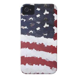 Paper Mache American Flag iPhone 4 Cover