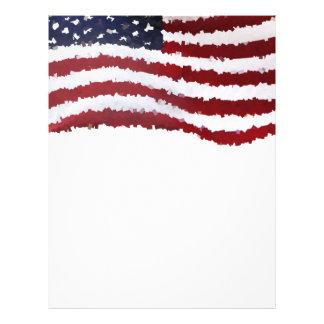 Paper Mache American Flag 21.5 Cm X 28 Cm Flyer