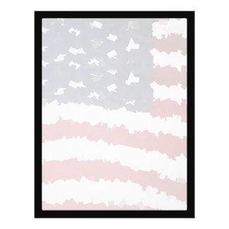 Paper Mache American Flag Custom Flyer