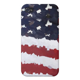 Paper Mache American Flag iPhone 4/4S Cases