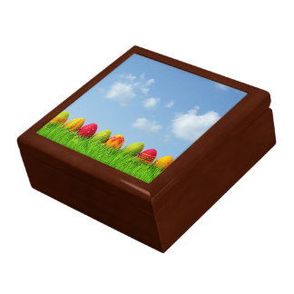 Paper Mache Easter Eggs Large Square Gift Box