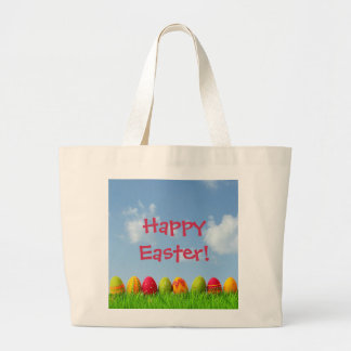 Paper Mache Easter Eggs Large Tote Bag