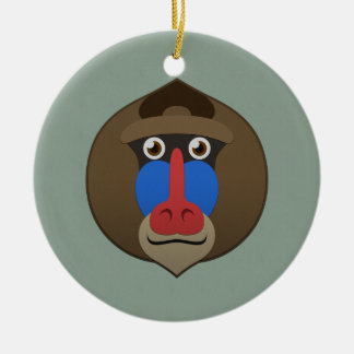 Paper Mandrill Christmas Tree Ornaments