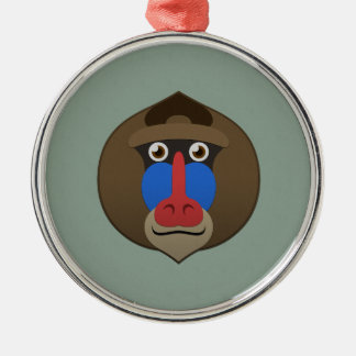Paper Mandrill Christmas Ornament