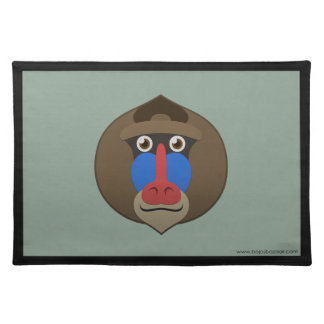 Paper Mandrill Placemat