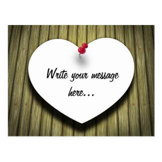 Paper Message Note Heart - Postcard