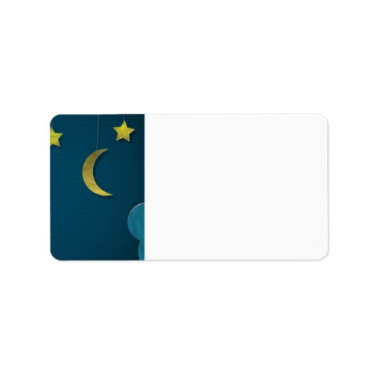 Paper Moon and Stars Address Label