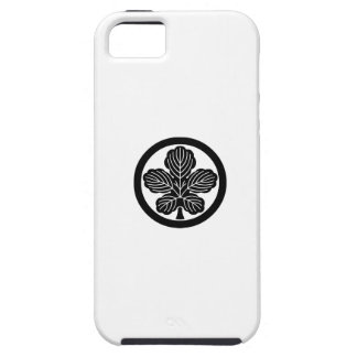 Paper mulberry leaf in circle iPhone 5 case