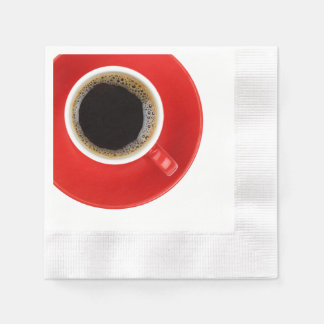 Paper Napkin with red coffee cup