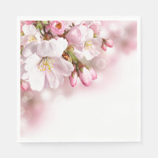 Paper Napkins-Cherry Blossoms Disposable Serviette