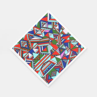 Paper Napkins  Colorful Geometrics Design