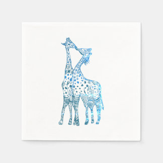 Paper Napkins, Giraffes Kiss Disposable Serviettes