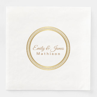 Paper Napkins-Gold Eternal Circle Paper Napkin