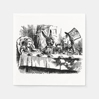 Paper Napkins illustration Alice in Wonderland