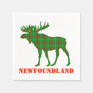 paper napkins  Newfoundland  Tartan plaid moose