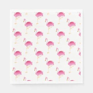 Paper Napkins-Pink Flamingos Disposable Serviette