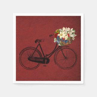 paper napkins red  bike bicycle