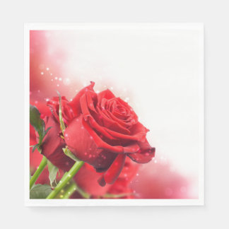 Paper Napkins-Red Roses Disposable Napkin