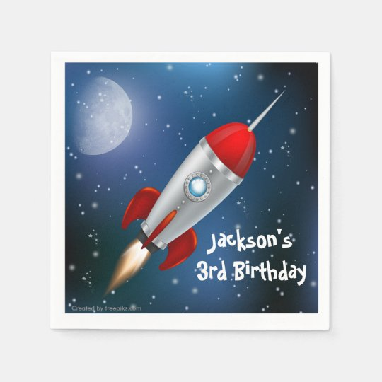 Paper Napkins Space Ship, Astronaut Birthday Party