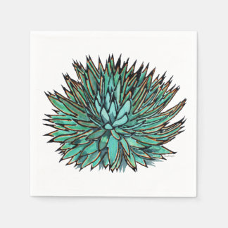 Paper Napkins - Spiky Green Agave