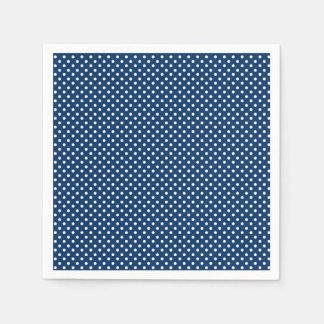 Paper Napkins with white dots on a blue background Paper Napkin