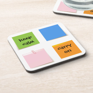 Paper Notes Beverage Coasters