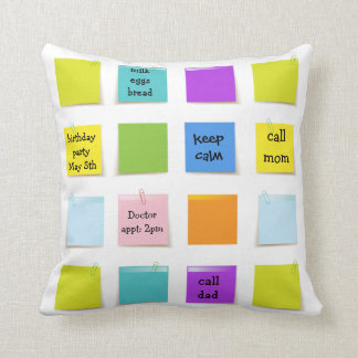 Paper Notes Throw Pillow