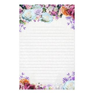 "Paper of letter ""Flowers "" 14 Cm X 21.5 Cm Flyer"