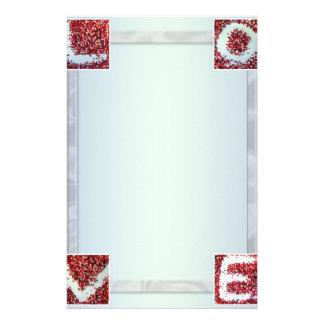 "Paper of letter ""Love "" Stationery Design"