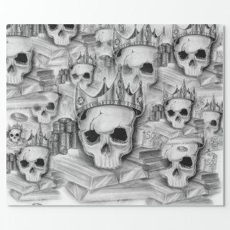 Paper of Parcel, Roll 76cm x 180 cm skull
