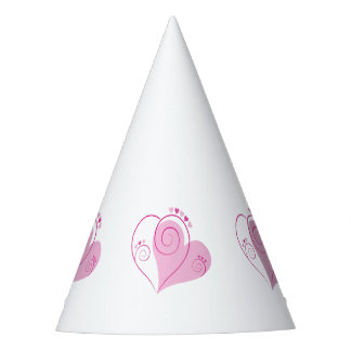 Paper Party Hat With Pink Heart