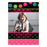 Paper Party Lights Photo Graduation Invitation
