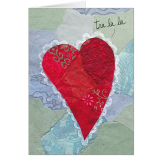 Paper Patchwork Valentine Heart Sings Card