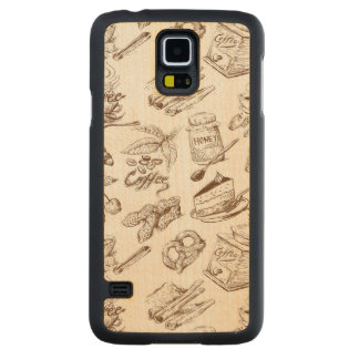 Paper pattern carved maple galaxy s5 case