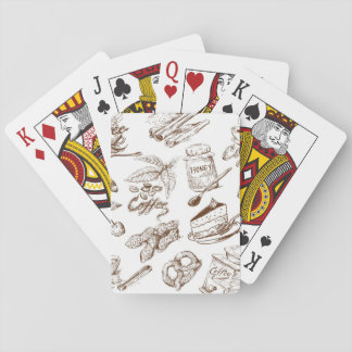 Paper pattern playing cards