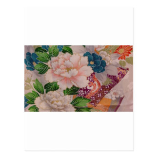 Paper Peonies from Japan Postcard