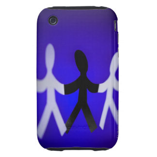 Paper people cutouts iPhone 3 tough cover