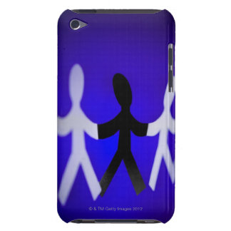 Paper people cutouts iPod touch case
