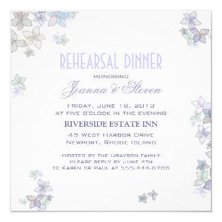 Paper Petals Artistic Rehearsal Dinner Invitations