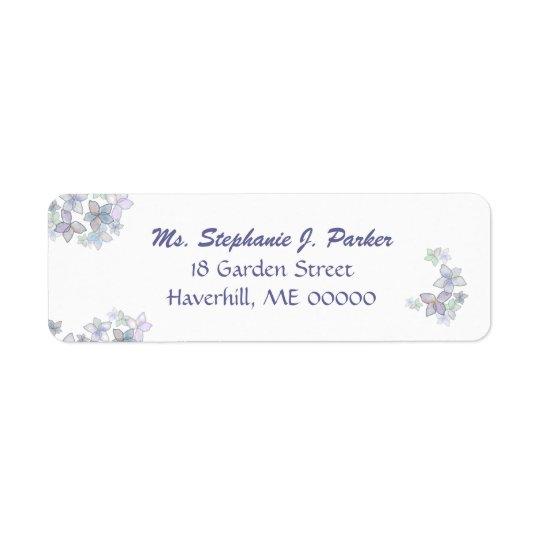 Paper Petals Floral Art Return Address Label