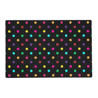 Paper Placemat Polka Dots Laminated Placemat