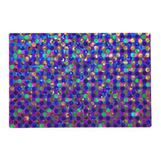 Paper Placemat Polka Dots Sparkley Jewels Laminated Place Mat