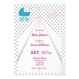 Paper Plane Custom Baby Shower Invitation