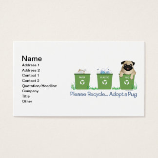 Paper Plastic Pug Business Card