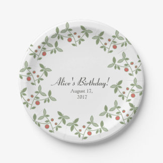 Paper Plate-Berries. Paper Plate