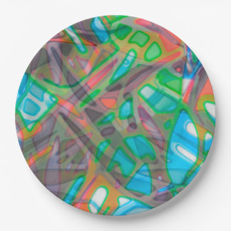 Paper Plate Colorful Stained Glass