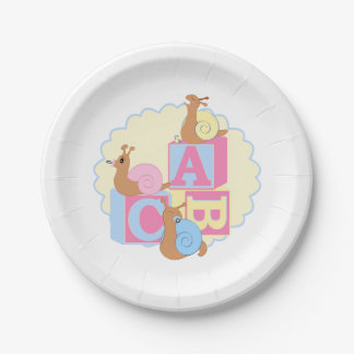 """Paper Plate > """"Cry Baby"""" Snails"""